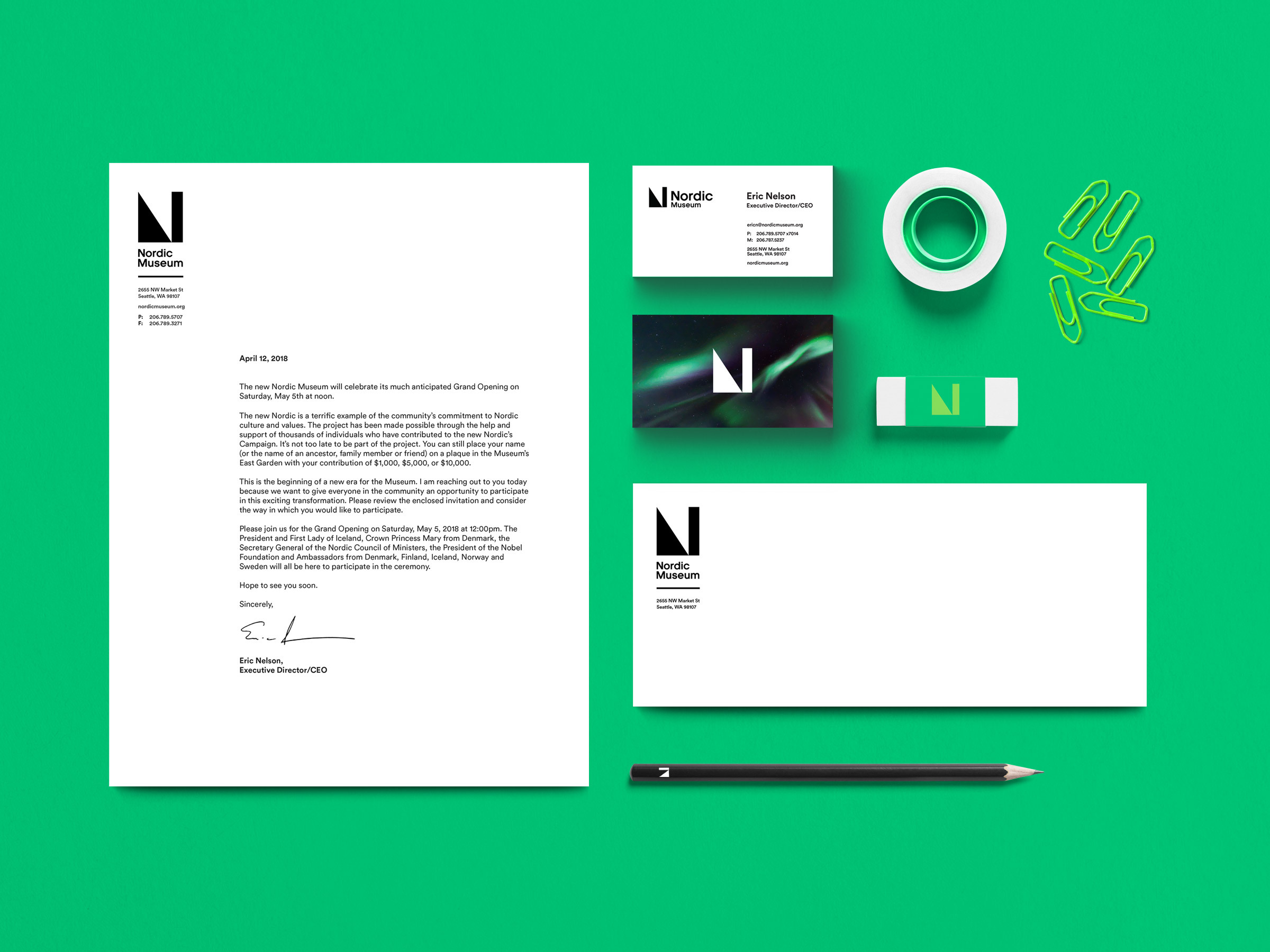 Nordic Stationery Green