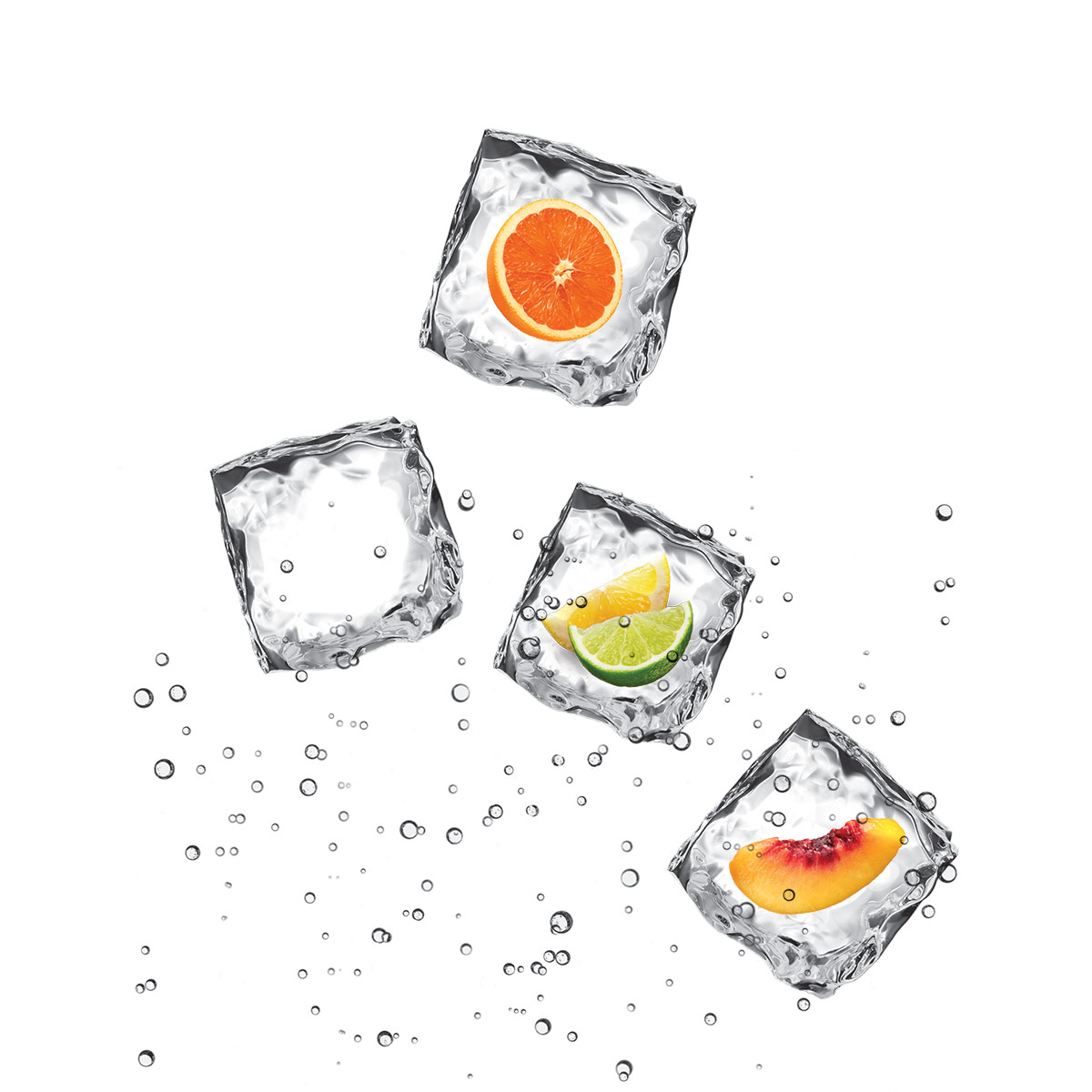 Ice Cubes with fruit inside
