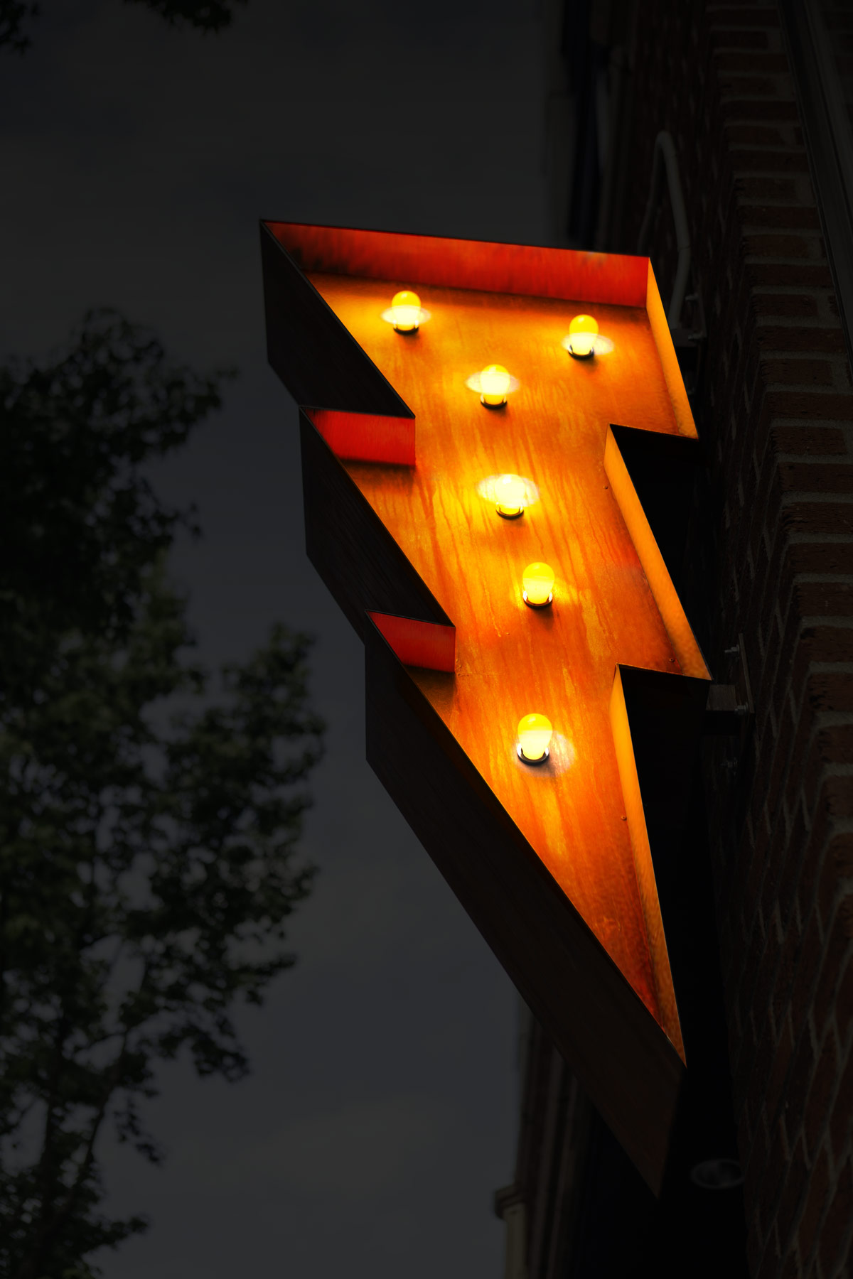 Sunset Electric Lightning Sign Night 1200X1800